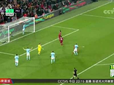[视频]攻破不败纪录 红军利物浦主场击败曼城
