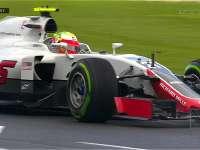 F1澳大利亚站FP2 古铁雷兹弯中连续打滑