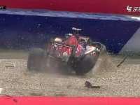 F1奥地利站排位赛 科维亚特事故慢镜回放