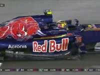 F1新加坡站正赛:小塞恩斯TR沟通赛车受损情况