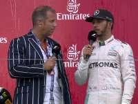 F1日本站赛后颁奖台采访