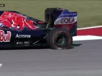 WTF?F1美国站FP3:塞恩斯连爆两胎