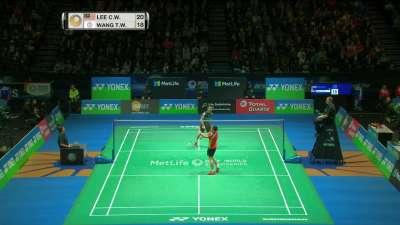 全英羽毛球公开赛男单1/8决赛 李宗伟vs王子维