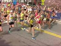 2017波士顿马拉松女子组鸣枪开跑 高手云集天气适宜