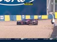 勒芒24小时耐力赛:57号克尔维特赛车失控