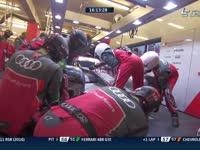 勒芒24小时耐力赛:奥迪7号赛车进站维修