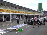 F1德国站排位赛Q2阿隆索淘汰:被挡好生气