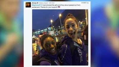 霉霉发文贺美国体操女团夺冠 收获一团好闺蜜