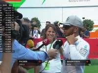 F1比利时站排位赛:汉密尔顿提前收工接受采访