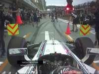 吓到宝宝了!F1新加坡站FP3:博塔斯出站险撞摄影师
