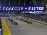 F1新加坡站正赛(现场声)全场回放