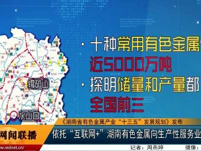 """依托""""互联网+"""" 湖南有色金属向生产性服务业转型升级"""