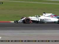 F1马来西亚站正赛:马萨爆胎立即进站换胎