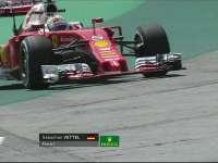 F1巴西站FP1:维特尔失误赛车冲出赛道