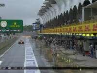 F1巴西站正赛:维斯塔潘进站换上半雨胎