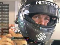 F1阿布扎比站FP1 车手戴着头盔这样喝水