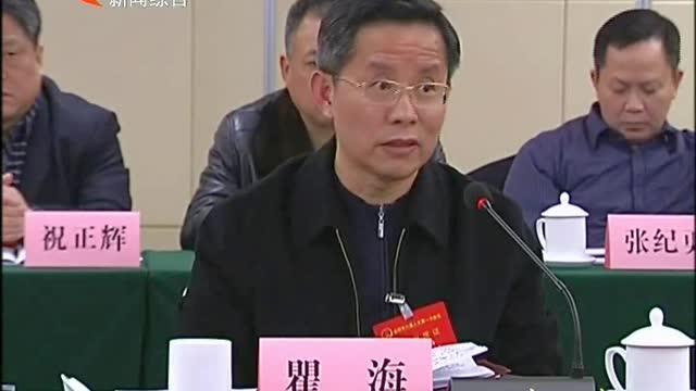 瞿海参加沅江、安化代表团讨论