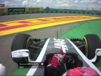 F1匈牙利站FP2:格罗斯让锁死轮胎冲出赛道