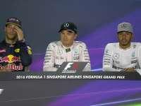F1新加坡站排位赛后前三采访:罗斯伯格欣喜200场夺杆
