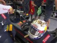 F1美国站FP2:里卡多换上纪念款头盔