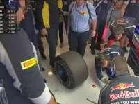 仔细看看!F1美国站FP3:车队检查塞恩斯轮胎