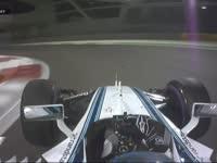 F1阿布扎比站FP2 博塔斯七号弯失误锁死又走大