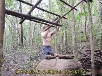 《极限荒野生存教学》第二十集 建造瓦顶工棚