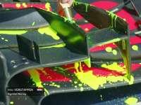 小维斯塔潘车身刷荧光涂料测试 彩色车身尽显骚气