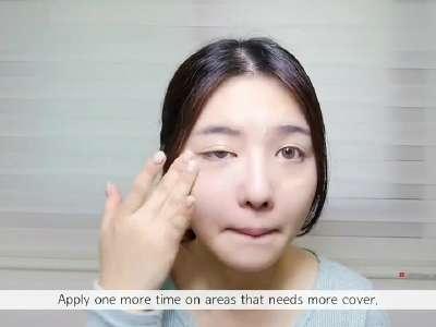 韩国美女化妆视频教学