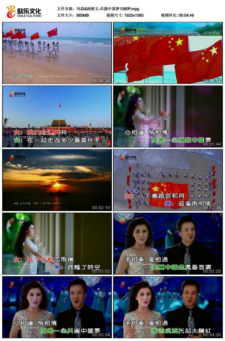 刘晶 阎维文 共圆中国梦 高清MV图片