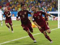 克尔扎科夫替补建奇功 俄罗斯1-1扳平比分