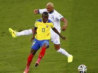 厄瓜多尔2-1洪都拉斯 瓦伦西亚头球建功