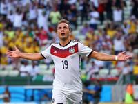 格策抢点头顶脚踢破门 德国队1-0取得领先