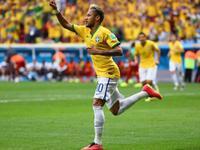 内马尔助球队领先喀麦隆 打入巴西世界杯百球