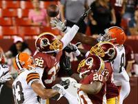 NFL季前赛全场录播 华盛顿红皮24-23克利夫兰布朗