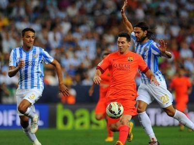 西甲14/15赛季第5轮 马拉加VS巴塞罗那