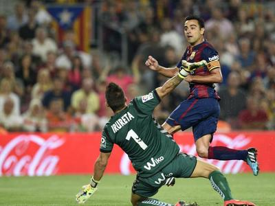 西甲14/15赛季西甲第8轮 巴塞罗那vs埃瓦尔