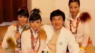 藏族美女 娇艳的格桑花