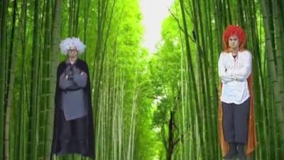肢体语言表演《大花轿》 奇妙新世界绿屏斗法