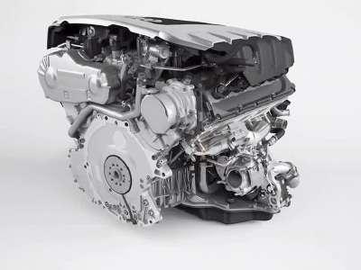 奥迪4.2v8柴油发动机动态展示