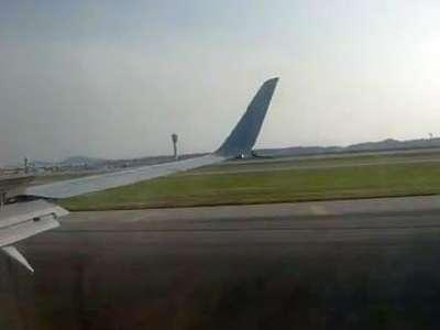 飞机降落(济南遥墙国际机场→韩国仁川国际机场)