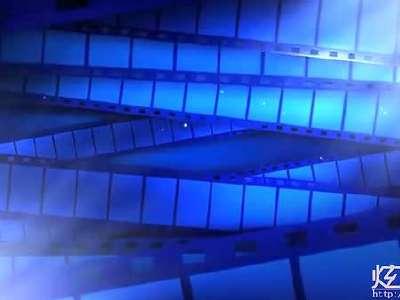 led069唯美炫蓝色胶卷循环大屏幕晚会舞台高清视频背景素材预览