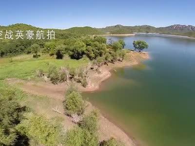 航拍易水湖全貌与半岛